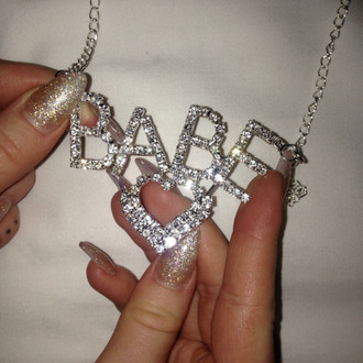 jewels baby diamonds necklace tumblr heart