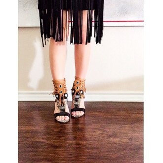 shoes sam edelman heels strappy black nastygal lace up