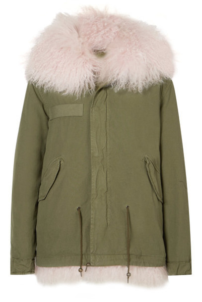 Mr & Mrs Italy parka cotton green army green coat