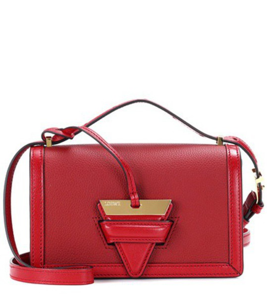 LOEWE bag shoulder bag leather red