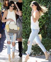 sandals,top,kendall jenner,bag