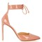 Point-toe patent-leather pumps