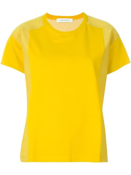 t-shirt shirt t-shirt yellow orange top