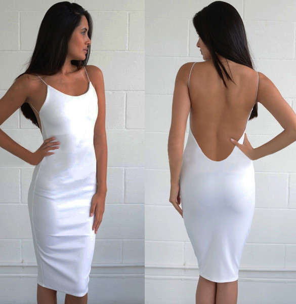 Lia Low Back Strappy Dress – Outfit Made