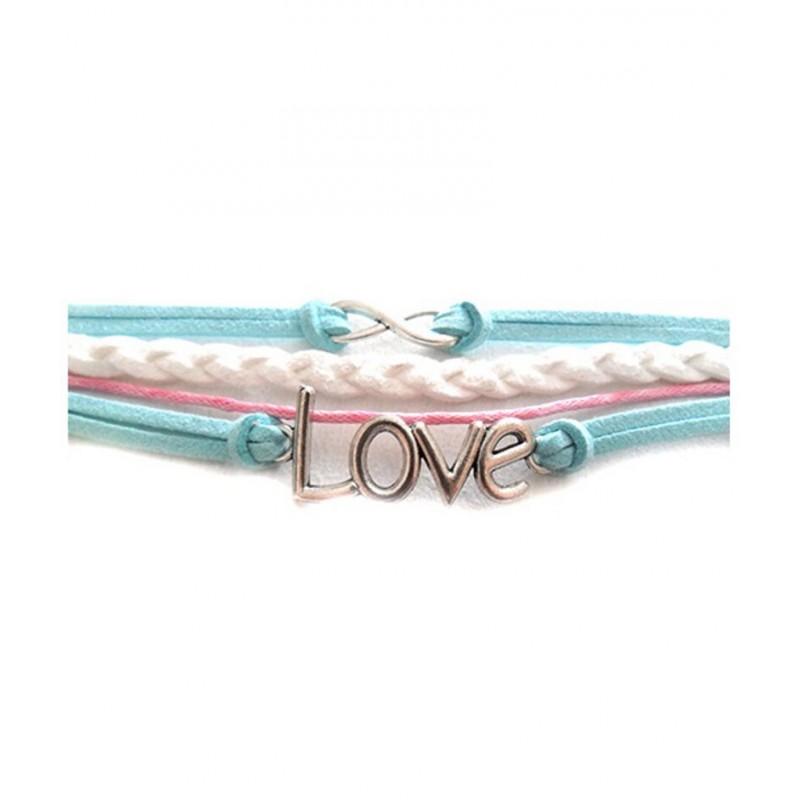 bracelet de cordes avec signes infini love style hipanema. Black Bedroom Furniture Sets. Home Design Ideas