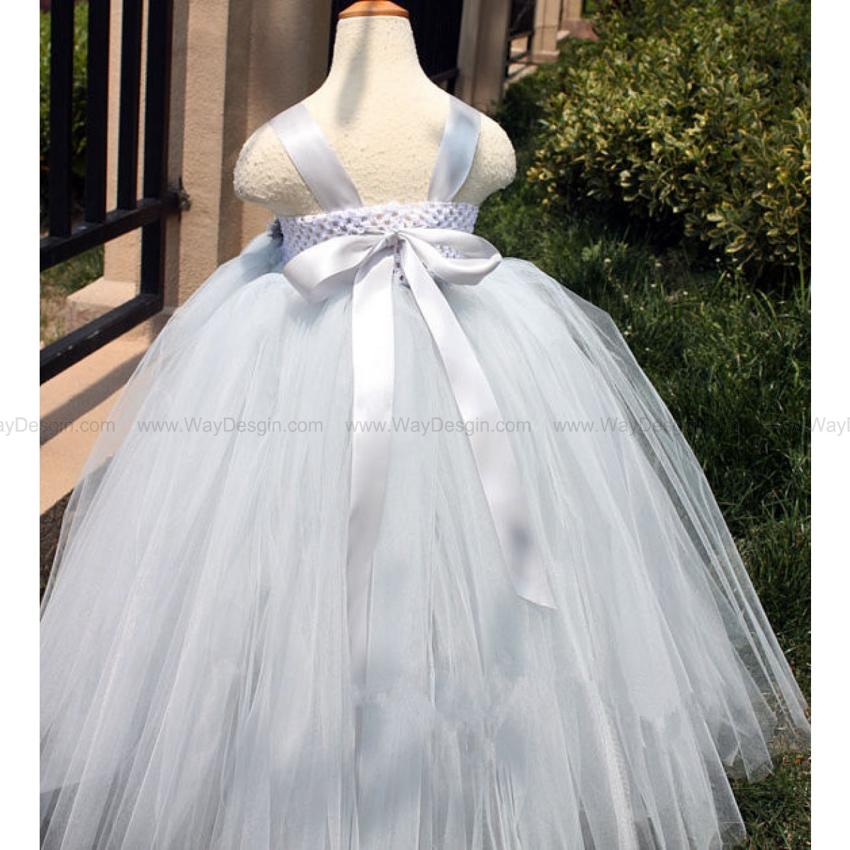 Flower girl dress grey tutu dress baby dress toddler birthday dress wedding dress newborn
