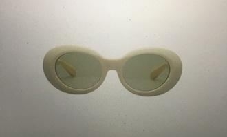 sunglasses glasses retro summer beige