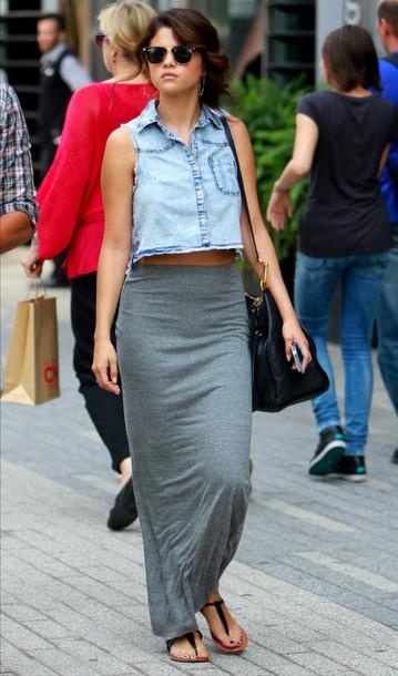 skirt blouse bag jewels sunglasses