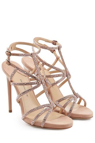 embellished sandals suede rose shoes