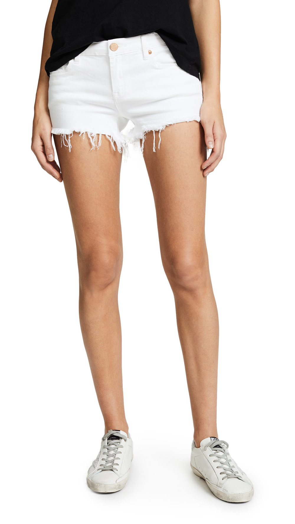 Blank Denim Cutoff Shorts in white