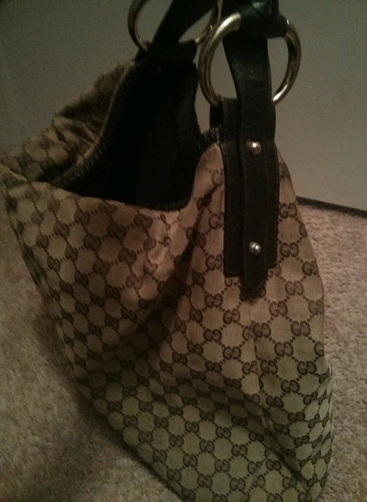 Large Gucci Horsebit Hobo Handbag | eBay