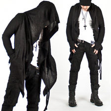 Garde dark punk hood charcoal cape cardigan jacket