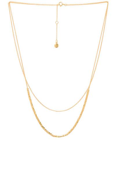 gorjana Tavia Layered Necklace in gold / metallic