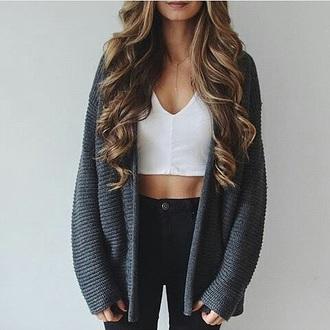 cardigan grey crop tops black jeans jeans closet goals instagram