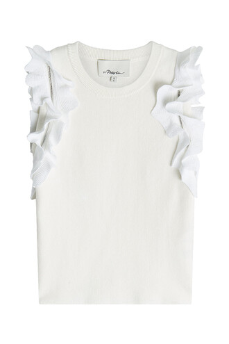 top knit cotton white