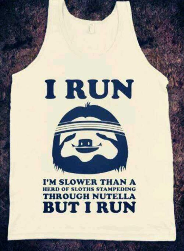 shirt tank top funny shirt fitness running nutella