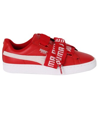 heart sneakers red shoes