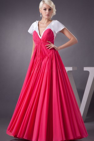 Eye-catching Multi-Color Chiffon Floor-Length A-Line Dress On Sale - Fadhits - English - p-Dwomendress1053