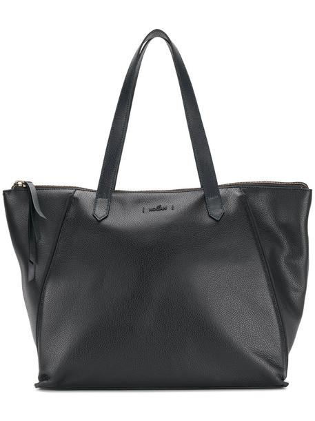 Hogan - large shopper tote - women - Leather - One Size, Black, Leather