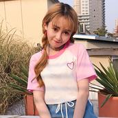 t-shirt,spliced,slit top,heart,heart top,heart tee,heart tshirt,heart t-shirt,kawaii,pink tee,kawaii pink tee,korean fashion,korean style,japanese,japanese fashion,harajuku,fairy kei,fairy kei fashion,pastel,pastel pink,pastel tee,pastel top,tumblr,tumblr girl,dejavucat