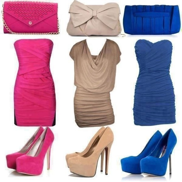 dress tan dress royal blue dress pink dress