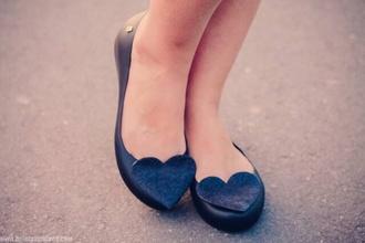 shoes flats heart flat shoe black flats