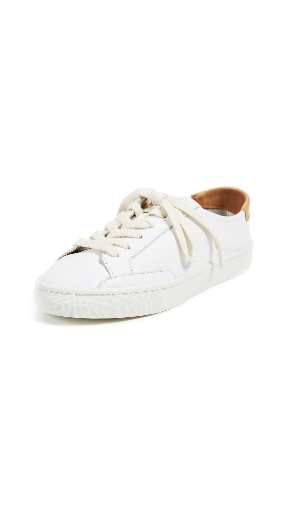 Soludos Ibiza Classic Lace Up Sneakers in white