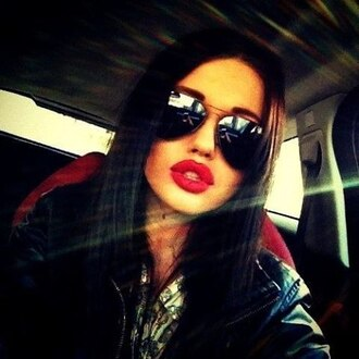 sunglasses sun glasses shades aviator sunglasses eyewear cute glasses sun summer mirrored sunglasses mirror pretty lipstick red lipstick red lips