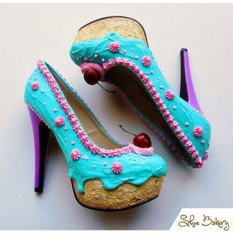 shoes food cake cherry