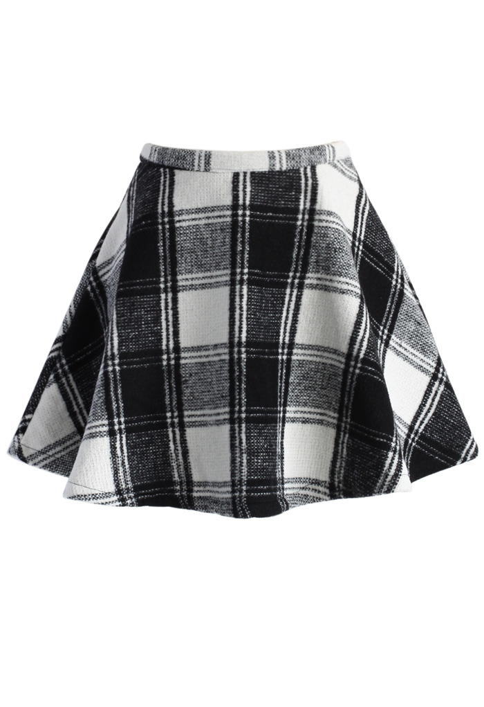 Tartan Twill Mini A-line Skirt - Retro, Indie and Unique Fashion