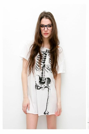 Sauce Skeleton Dress in White ($50-100)