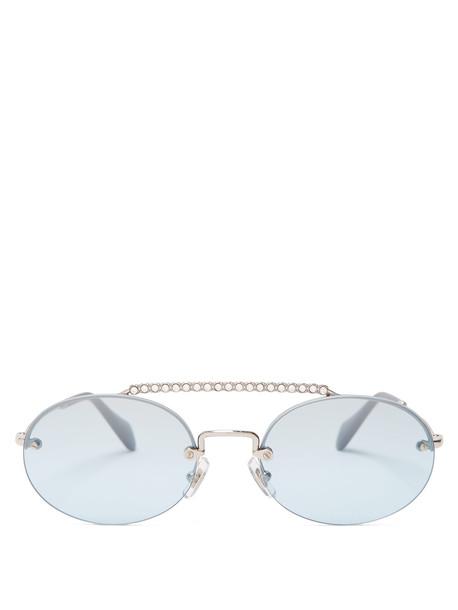 embellished sunglasses grey