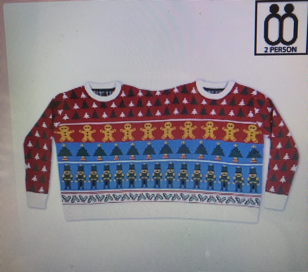 sweater two person christmas jumper