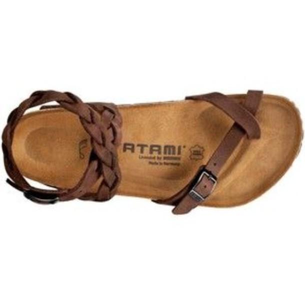 shoes straps sandals brown summer shoes