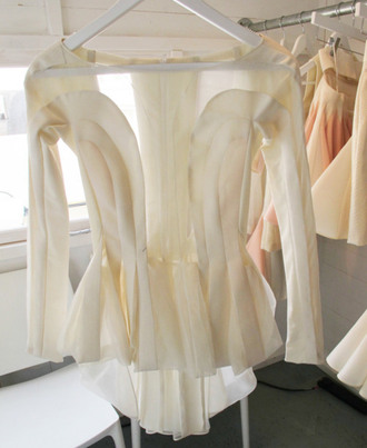 blouse cream cream blouse long sleeves see through sheer blouse beige blouse peplum shirt