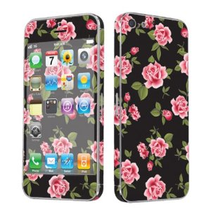 Amazon.com: SkinGuardz Vinyl Decal Protective Sticker Skin for Apple iPhone 5 - (Black Rose Garden): Cell Phones & Accessories