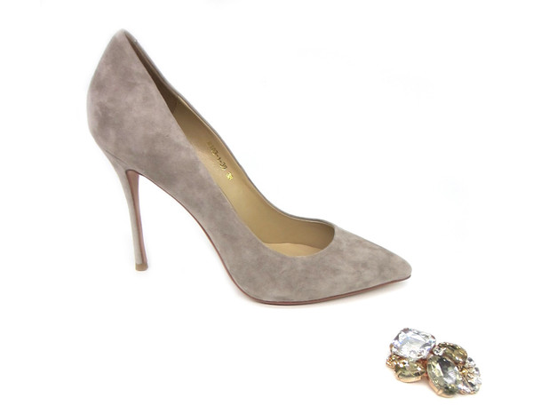 2632f0bfb04 Latest High Heels - Grey Suede Stilettos