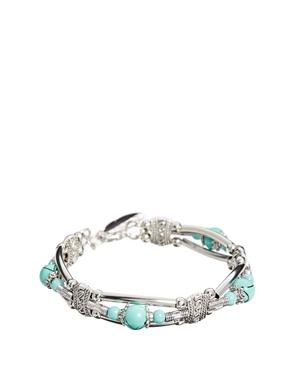 ASOS | ASOS Bead & Feather Cuff Bracelet at ASOS