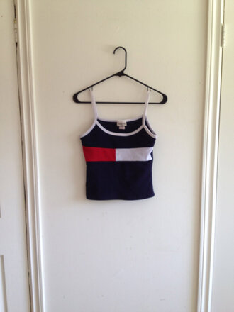 tommy hilfiger singlet tank top 90s style shirt
