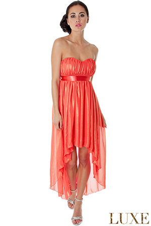 Bandeau Chiffon Goddess Dress