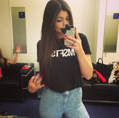 jeans,high waisted,light,msfts,shirt,t-shirt,cool,swag