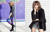 jeans,metallic jeans,purple jeans,sequin jacket,sequins,black blazer,party blazer,Sequin shorts,shearling jacket,nastygal,lookbook,fall outfits,jacket,shoes,shorts
