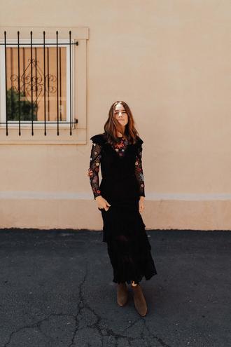 dress tumblr knitted dress crochet maxi dress long dress long sleeves long sleeve dress boots ankle boots shoes