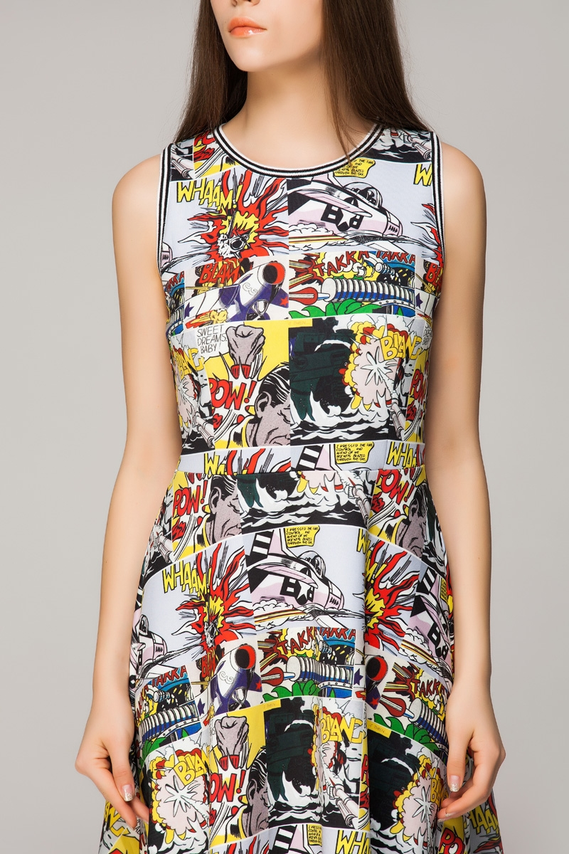 Skater dress in comics print