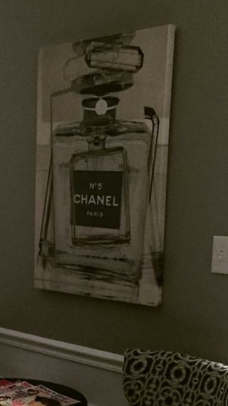 home accessory chanel inspired painting home decor