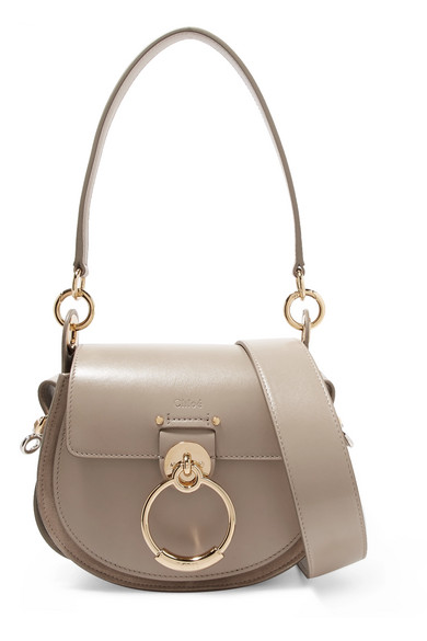 Chloé - Tess small leather and suede shoulder bag