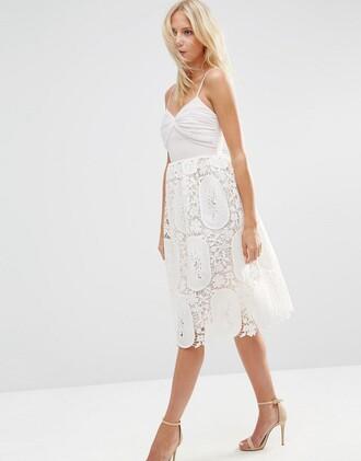 dress lace lace dress white lace dress midi dress asos