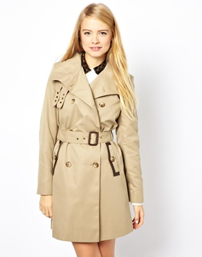 ASOS | ASOS Trench Mac With PU Trims at ASOS