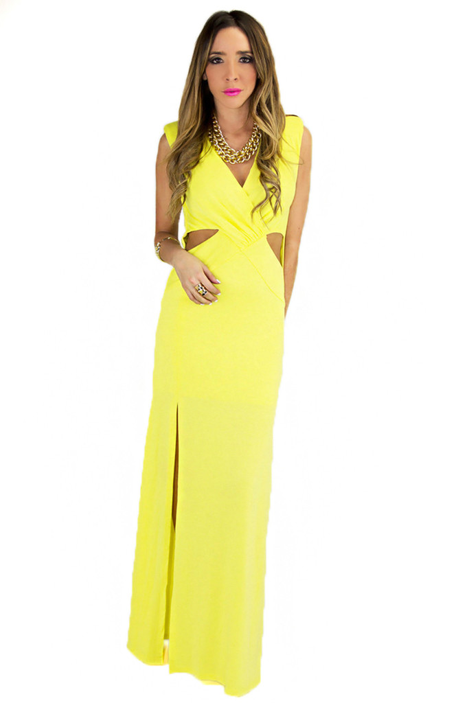 SIDNEY CUTOUT MAXI DRESS | Haute & Rebellious