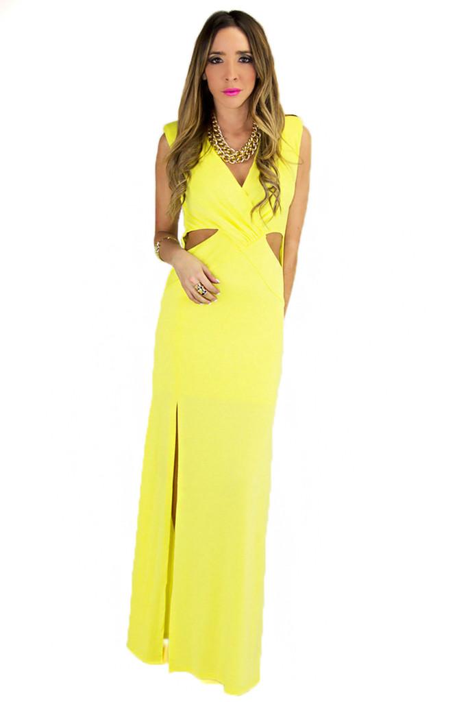 SIDNEY CUTOUT MAXI DRESS   Haute & Rebellious